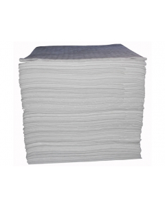 """15"""" x 18"""", Bonded Oil Only Absorbent Pads, Heavy Weight, Bagged, 100 Count - 83476"""