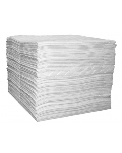 Single Laminate Oil Only pads, Medium Weight, 15-in x 18-in, bagged, 100 count - #83490