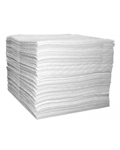 """15"""" x 18"""", Oil Only Absorbent Pads, Single Laminate, Light Weight, Bagged, 100 Count - 83492"""