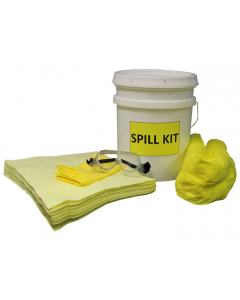 5 Gallon HazMat Spill Kit With Absorbents and Emergency Cleanup Supplies - 83537