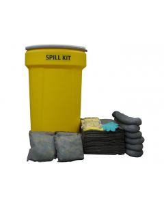 55 Gallon Universal Spill Kit With Absorbents and Emergency Cleanup Supplies - 83541