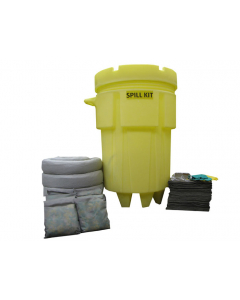 95 Gallon Universal Wheeled Spill Kit With Absorbents and Emergency Cleanup Supplies - 83547
