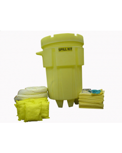 95 Gallon HazMat Wheeled Spill Kit With Absorbents and Emergency Cleanup Supplies - 83549
