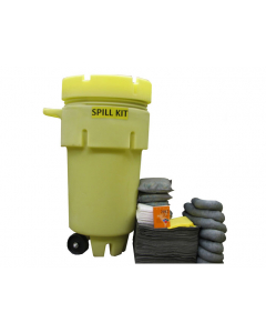 50 Gallon Universal Wheeled Spill Kit With Absorbents and Emergency Cleanup Supplies - 83550