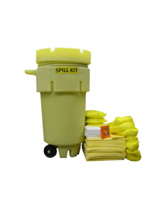50 Gallon HazMat Wheeled Spill Kit With Absorbents and Emergency Cleanup Supplies - 83552