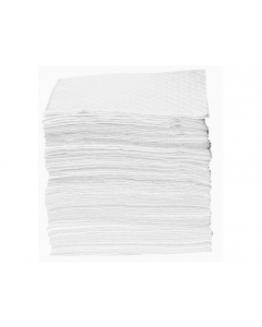 """15"""" x 18"""" Recycled Oil Only Absorbent Pads, Heavy Weight, Bagged, 100 Count - 83563"""