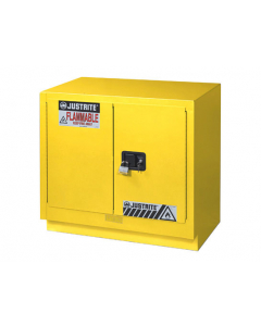 Sure-Grip® EX Under Fume Hood solvent/flammable liquid safety cabinet, 23 gallon,  2 manual close doors, Yellow - #883600