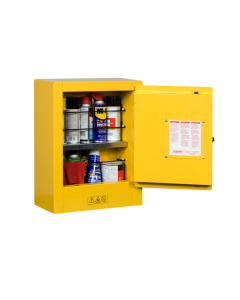 Yellow Mini Transportable Aerosol Flammable Safety Cabinet, 1 Manual Close Door - Sure-Grip® EX - #890200