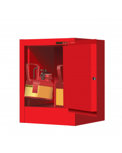 4 gallon Red Countertop Flammable Safety Cabinet, 1 Self-Close Door - Sure-Grip® EX - #890421