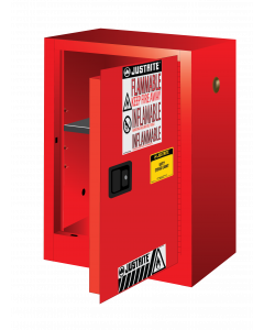 12 gallon Red Compac Flammable Safety Cabinet, 1 Manual Close Door - Sure-Grip® EX - #891201