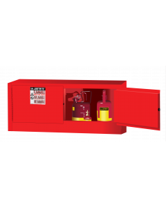 Sure-Grip® EX Piggyback Flammable Safety Cabinet, 12 gallon, 2 manual-close doors, Red - #891301