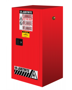 15 gallon Red Compac Flammable Safety Cabinet, 1 Manual Close Door - Sure-Grip® EX - #891501