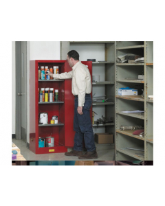 22 gallon Red Flammable Safety Cabinet, Slimline, 1 Manual Close Door - Sure-Grip® EX- #892201