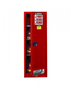 22 gallon Red Slimline Flammable Safety Cabinet, 1 Self-Close Door - Sure-Grip® EX- #892221