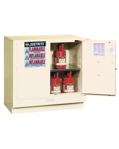 22 gallon White Undercounter Flammable Safety Cabinet, 2 Self-Close Doors - Sure-Grip® EX - #892325