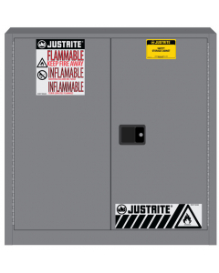 Sure-Grip® EX Flammable Safety Cabinet, 30 gallon, 2 manual close doors, Gray - #893303