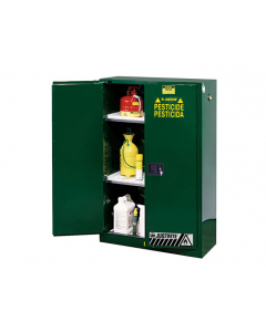 Sure-Grip® EX Pesticides Safety Cabinet, 90 gallon, 2 manual-close doors, Green - #899004