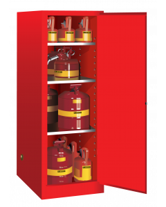 54 gallon Red Deep Slimline Flammable Safety Cabinet, 1 Manual Close Door - Sure-Grip® EX- #895401