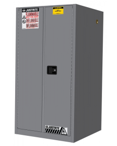 Sure-Grip® EX Flammable Safety Cabinet, 60 gallon, 2 manual-close doors, Gray - #896003