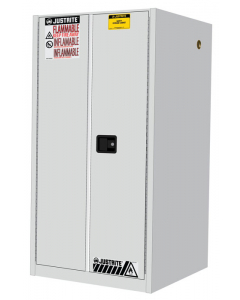 Sure-Grip® EX Flammable Safety Cabinet, 60 gallon, 2 manual-close doors, White - #896005