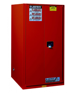 60 gallon Red Flammable Safety Cabinet, 2 Self Close Door - Sure-Grip® EX- #896021