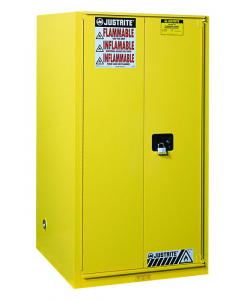 Sure-Grip® EX Combustibles Safety Cabinet for paint and ink, 96 gallon, 2 self-close doors, Yellow - #896030