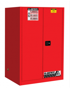 90 gallon Red Flammable Safety Cabinet, 2 Self Close Door - Sure-Grip® EX- #899021
