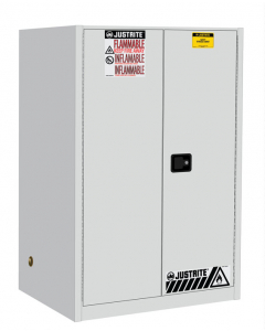 Sure-Grip® EX Flammable Safety Cabinet, 90 gallon, 2 self-close doors, White - #899025