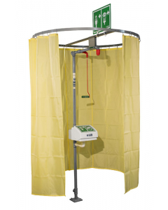 Hughes Safety Shower Modesty Curtain, Pipe Mounted - #CURTAIN-PM