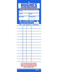 Hughes Equipment Inspection Record, 2 Pack - #SERVICE-CARDS