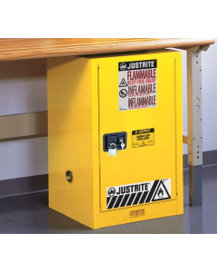 Sure-Grip® EX Compac Flammable Safety Cabinet, 12 gallon, 1 self-close door, Yellow - #891220