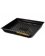 "EcoPolyBlend Spill Tray, 37-3/4""W x 34""D x 5-1/2""H, indoor or outdoor use, rigid, recycled polyethylene, Black - #28718"
